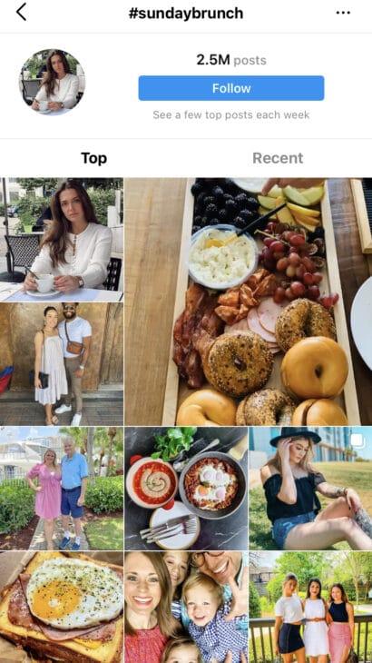 Sunday Brunch - Sunday Instagram Hashtags